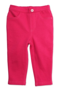 Zutano-SFT02 Fuchsia Terry Matchstick Jeans