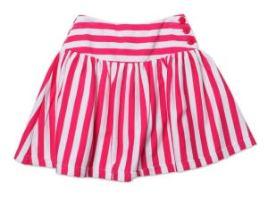 Zutano-YST06 Fuchsia White Stripe Yoke Skirt